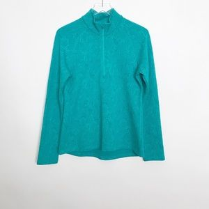 Lucy teal half zip athletic top size mock neck L